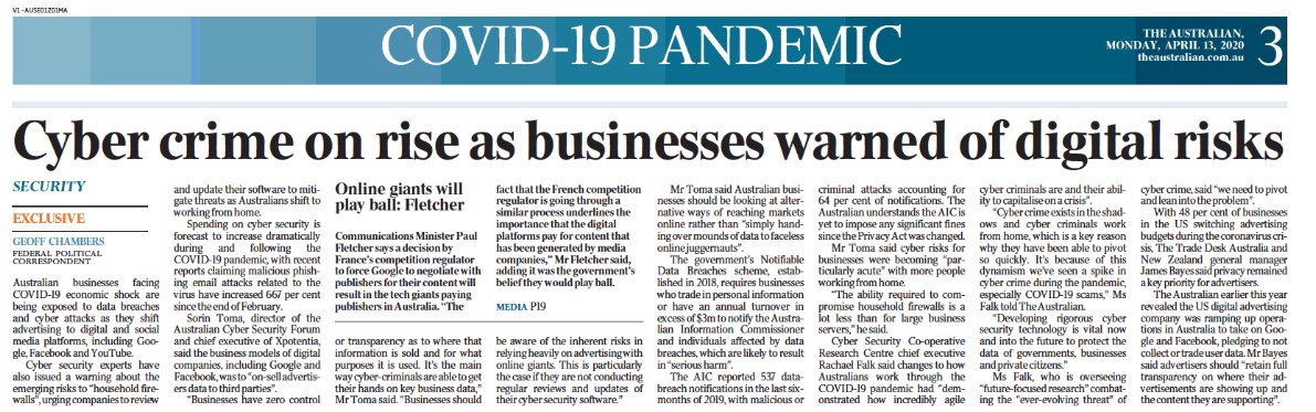 Cyber crime om rise businesses warned